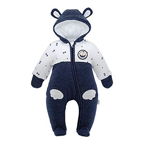 DDY Baby Schneeanzug mit Kapuze Warm Strampler Overall Winter Onesies 3-6 Monate Outfits Oberbekleidung für Baby Junge Mädchen