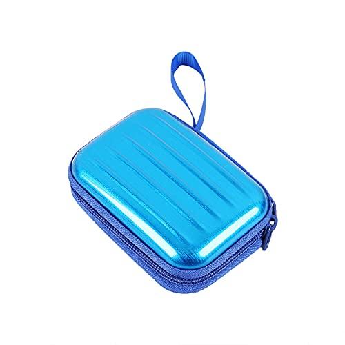 wojonifuiliy Metallbox Klein mit Deckel Bunt - Kleine Metallboxen Aufbewahrung, Rechteckige Weißblech Aufbewahrungsbox mit Doppelreißverschluss, Mini-Box für Schmuck Karten Münze (Blau)