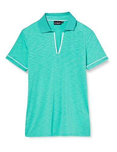 CMP – F.LLI Campagnolo Damen Slub Jersey Stretch-Poloshirt, Ceramic, D44