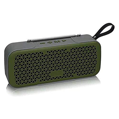 Zks Portable Radio, Bluetooth 4.0 Rétro Haut-Parleur Radio Haut-Parleur Stéréo avec Port USB Et AUX Port De Sortie pour Marche Randonnée Camping Walkman Pocket,Vert