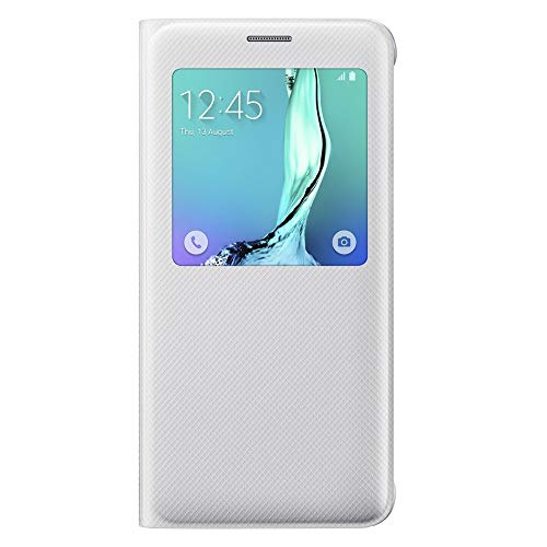 SAMSUNG EF-CG928PWEGWW S-View - Funda Galaxy S6 Edge Plus, Color Blanco
