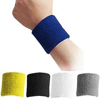 Random color 1Pcs Unisex Cotton Protective Wristbands Sport Sweatband Hand Band Sweat Wrist Support Brace Wraps Guards Gym Tennis Yoga