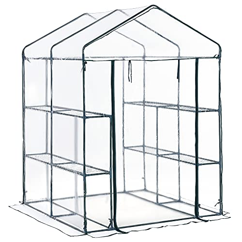 Outsunny 5' x 5' x 6' Outdoor Walk-in Greenhouse Garden Hot House with...