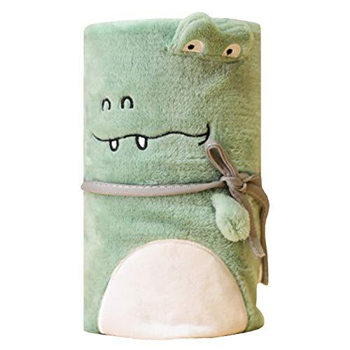 YTdoo Mantas para camaLindo Pequeño Cocodrilo Manta De Dibujos Animados De Mantas De Franela Manta De Aire Acondicionado De Animal Manta Envolver Mantas De Bebé Regalo Creativo,100cm*80cm
