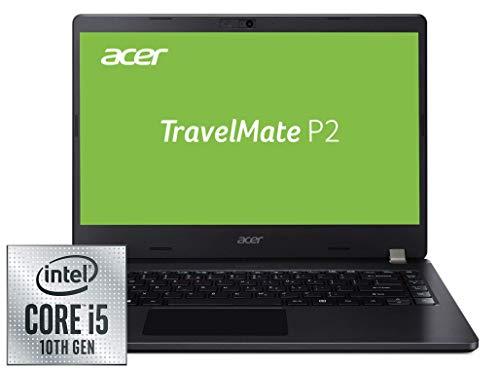 Acer TravelMate P2 (TMP214-52-52QW) 35,3 cm (14 Zoll Full-HD IPS matt) Business-Laptop (Intel Core i5-10210U, 8 GB RAM, 256 GB PCIe SSD, Intel UHD, Win 10 Pro) schwarz