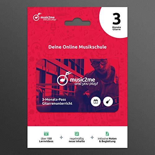 Music2me.de: Gitarre lernen - Online Gitarrenunterricht für Anfänger und Fortgeschrittene (3 Monate)