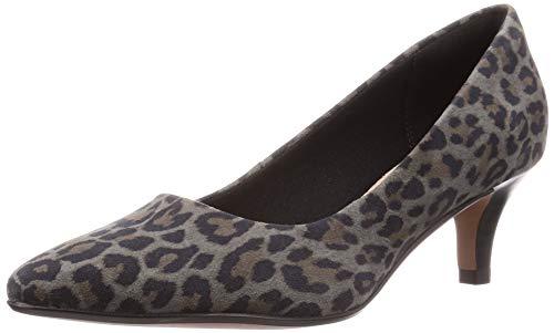 Clarks Linvale Jerica, Zapatos de tacón con Punta Cerrada para Mujer, Leopard PRT Comb Leopard PRT Comb, 39.5 EU