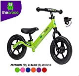 TheCroco Lightweight Balance Bike for Toddlers and Kids… (Green, Premium...