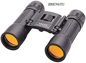 ZHENGTU Compact 10x25 Mini Binoculars Telescope Sports Hunting Camping Survival Kit - Black