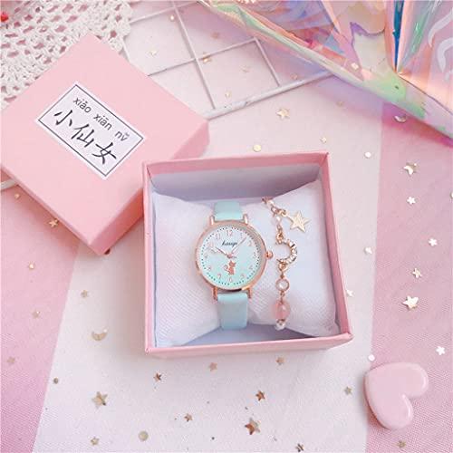 Lvmiao Relojes Japoneses Sakura, Relojes de Examen, Relojes de Cuarzo a Prueba de Agua, Relojes Simple Temperament Girly High School Student,4
