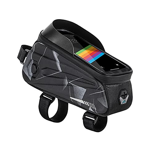 Bicycle Bag,Bike Front Bag,Bike Frame Bag,Waterproof Bike Pouch Bag,Bike Touchscreen Phone Bag,bike Bags For Frame,For Outdoor Sports Riding Mountain Bike Road Bike (Give 1 Head Scarf)