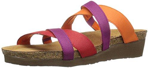 Naot Footwear Women's Roxanna Red Stretch/Orange Stretch/Magenta Stretch Sandal 9 M US