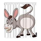 AOYEGO Donkey Fabric Shower Curtain with...