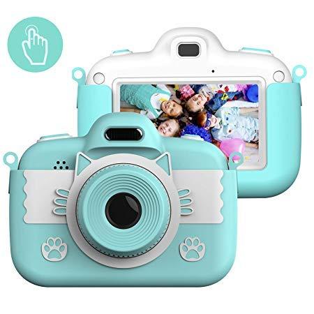 子供用カメラキッズカメラ男の子と女の子向けデュアルレンズ3.0インチIPSカラー大画面28.0MP / 1080P HD、2800万画素デジタルビデオカメラミニビデオカメラかわいいおもちゃのカメラシリコンショックプルーフカバー32Gメモリカードバージョン3