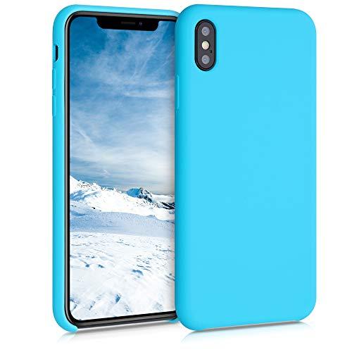 kwmobile Carcasa Compatible con Apple iPhone XS MAX - Funda de Silicona para móvil - Cover Trasero en Azul Turquesa