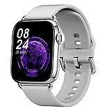 QFSLR Smartwatch Pulsera Inteligente Reloj con Monitor De Frecuencia Cardíaca Monitor De Presión Arterial Monitoreo De Oxígeno En Sangre Rastreador De Salud para Andriod Y iOS,Gris