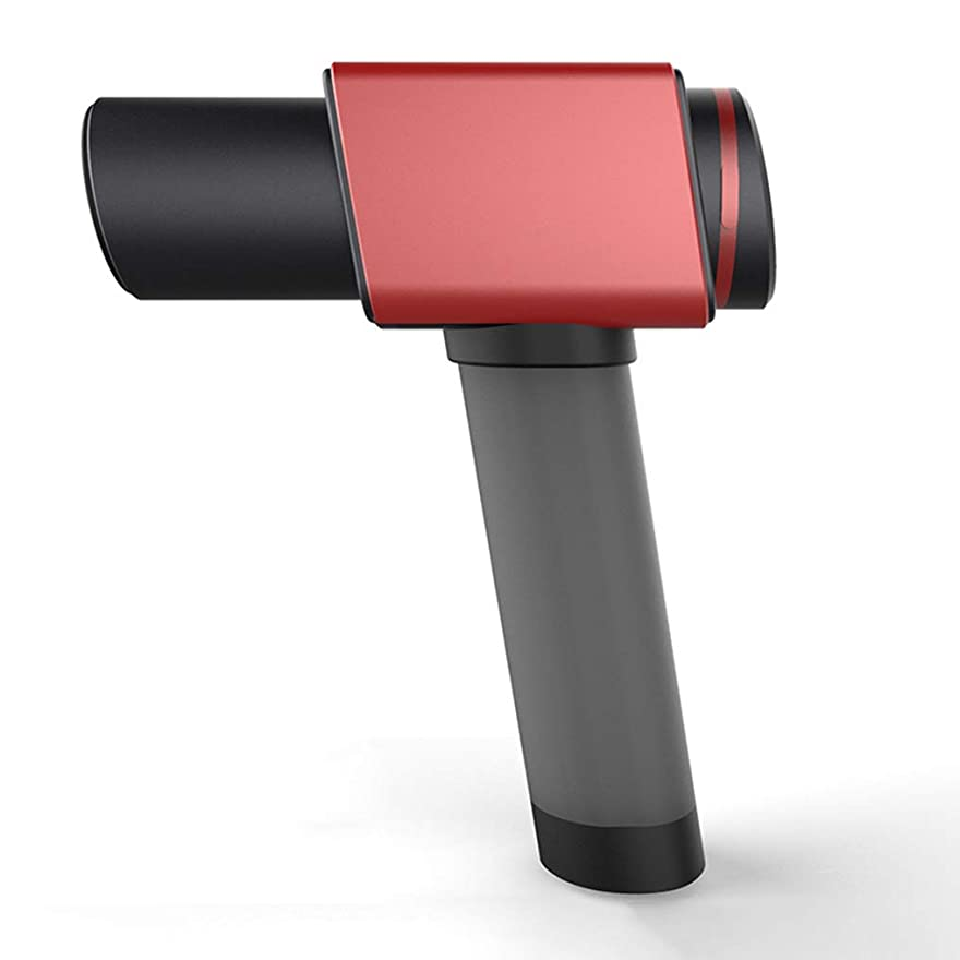キュービックテセウス出版ポータブル 強力なブラシレスモーター6マッサージヘッドに耐えるコードレス手持ち型の深い筋肉の筋膜のマッサージ銃の精密合金 インテリジェント