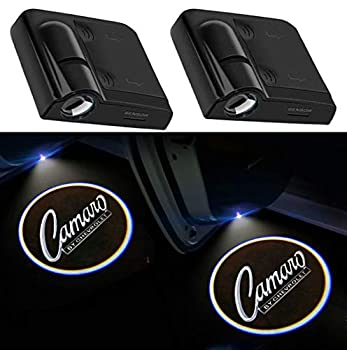 2Pcs for Car Door Lights Logo for Camaro Car Door Led Projector Lights Shadow Ghost Light,Wireless Car Door Welcome Courtesy Lights Logo for All Car Models