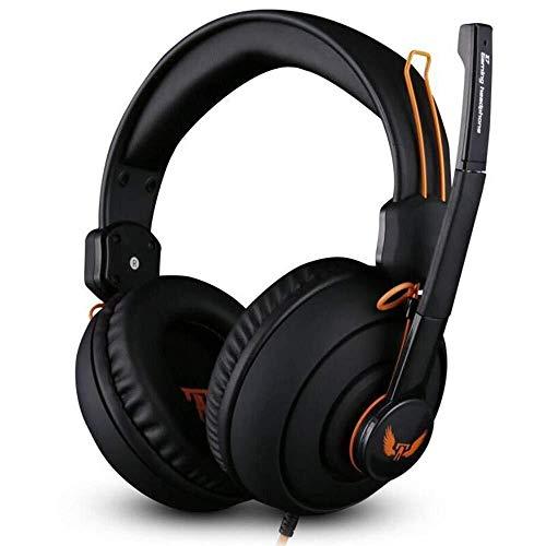 Faus Koco Profesión Gaming Headset, Wired Eliminar Efectivamente El Ruido del Micrófono, Confort Ajustable 3,5 Mm For Auriculares Auriculares Negro Interfaz For PS4