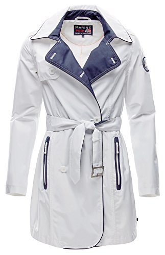 Marinepool–Giacca Norma Trench Coat, Donna, Norma Trench Coat Women, Bianco, M