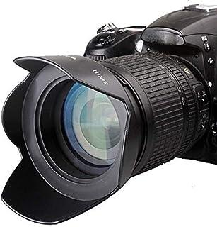 غطاء عدسة الكاميرا - 49 مم - 77 مم 52 مم 58 مم 67 مم 82 مم زهرة البتلة عدسه مسمار غطاء الرأس لنيكون D3300 D5300 D5200 D550...