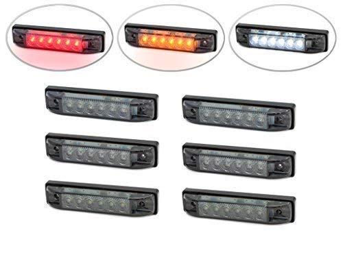 4 Inch Encastré LED Arrêter & Queue Feux + Clignotants + Lampe Marche Arrière pour Hot Rod, Camion, Camionnette, 4X4, Pick Up, Caravane - Set de 6