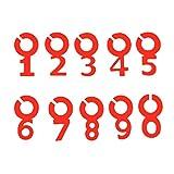 Yemiany Marcadores de bebidas,marcadores de copas,10PCS Charm Tags Marcadores de silicona con número de copa de vino,símbolo,número,marcador de vino para banquete de boda,bar,copa de cristal(rojo)