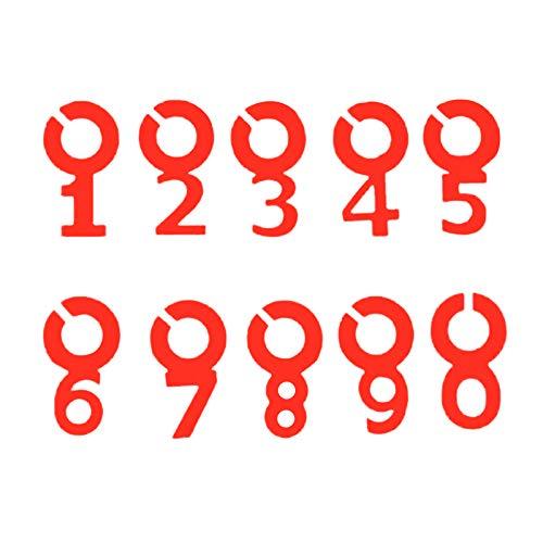 Yemiany wein marker markierung Gläse gläser markierung,10PCS Charm Tags Silikon Nummer Weinglas Markierungen Symbol Nummer Form Wein Marker für Hochzeitsfeier Bar Club Glas Tasse(Rot)