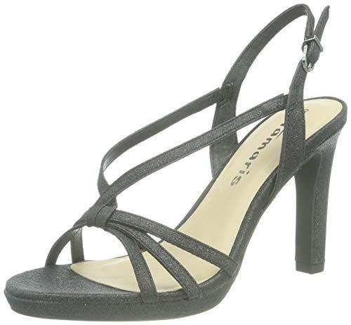 Tamaris Femmes Sandale à Talon 1-1-28335-26 047 Noir ajustée Taille: 39 EU