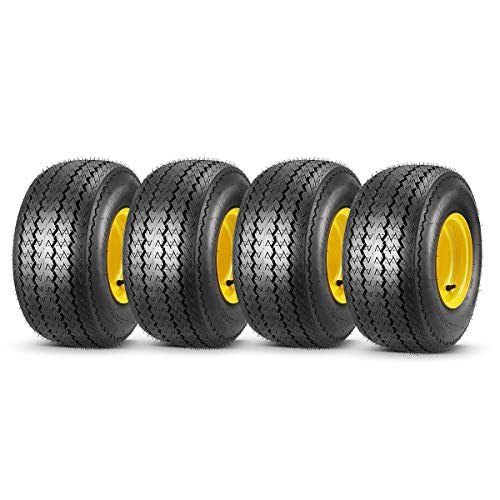 MaxAuto 18x8.50-8 Golf Cart Wheels and Golf Cart Tires Combo - Set of 4 (18x8.5-8, 8x7, 4/4 Rim)