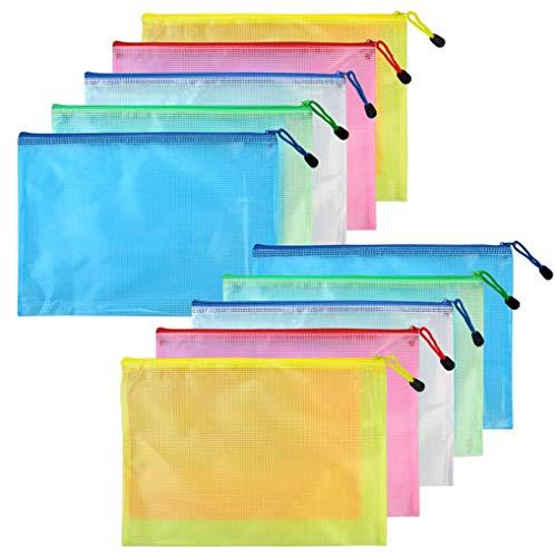 Lystaii 10 stücke A3 Reißverschluss Datei Taschen Mesh Dokumente Beutel Wasserdichte Ablage Ordner Papier Dokumententasche Büro Schulbedarf