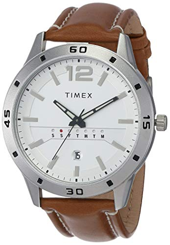 Timex Reloj analógico para hombre con esfera blanca - TW000U933