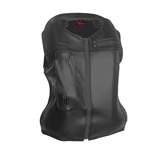 haozai Gilet Airbag Anti-Chute Gilet,Airbag Moto en Cuir De Vache Airbag De Déclenchement Mécanique De 0,5...