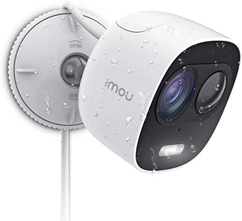 Imou LOOC: Weather Resistant Outdoor Security Camera, Active Deterrence Surveillance Camera with Siren and LED Spotlight, 1080P Wi-Fi IP Camera with PIR Motion Detection, Two-Way Audio & Night Vision