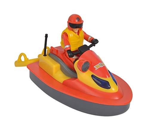 Simba Sam el pompier-Ocean Jet Ski Juno Flotante + 1Figura, 109251048002, Rojo