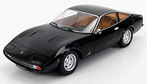 KK Scale KKDC180284 - Ferrari 365 Gtc4 1971 Black with Brown Interieur - Escala 1/18 - Modelo Coleccionable