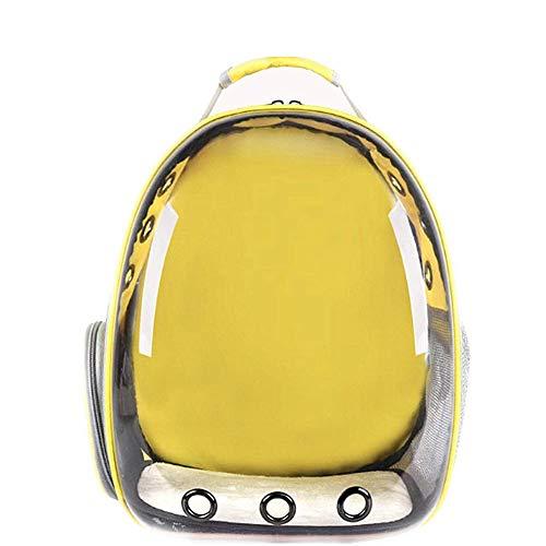 Molinter Haustier Rucksack Raumkapsel Haustiertasche mit Panorama-Design Atmungsaktive Transportrucksack für Katzen Hunde Kleintiere (Gelb)