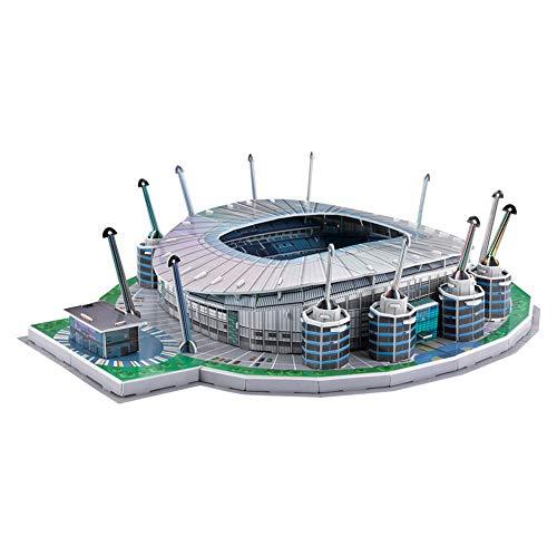 Manchester City Etihad Stadium Modell, Sportstadion 3D-Modell, Fans Souvenir DIY Puzzle, 19'X 15' X 5'