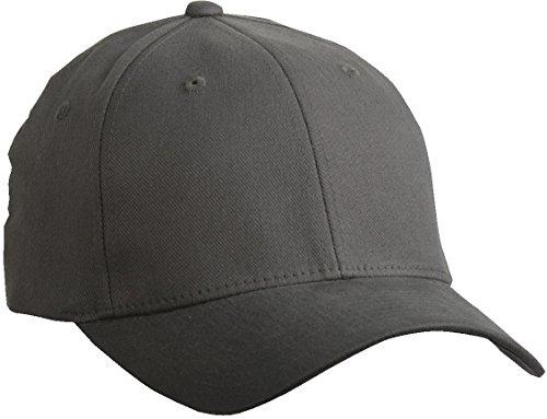 Flexfit ® Fullcap 6 Panel Baseballcap mit geschlossener Rueckseite und Elasthananteil in 13 Farben und 2 Groessen Anthrazit ( Dunkelgrau ), L/XL, 57/58 cm Kopfumfang