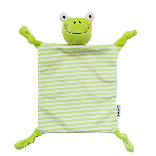 YeahiBaby Doudou per neonato Copertina sicurezza Neonati di Peluche Baby Comforter (Rana)