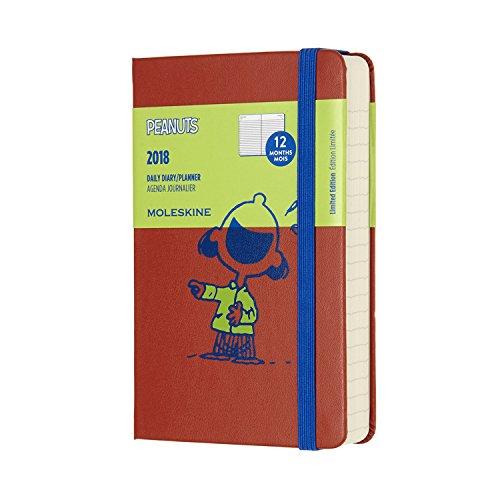 Moleskine 2018 Agenda Giornaliera Peanuts, 12 Mesi, Tascabile, Arancione Corallo