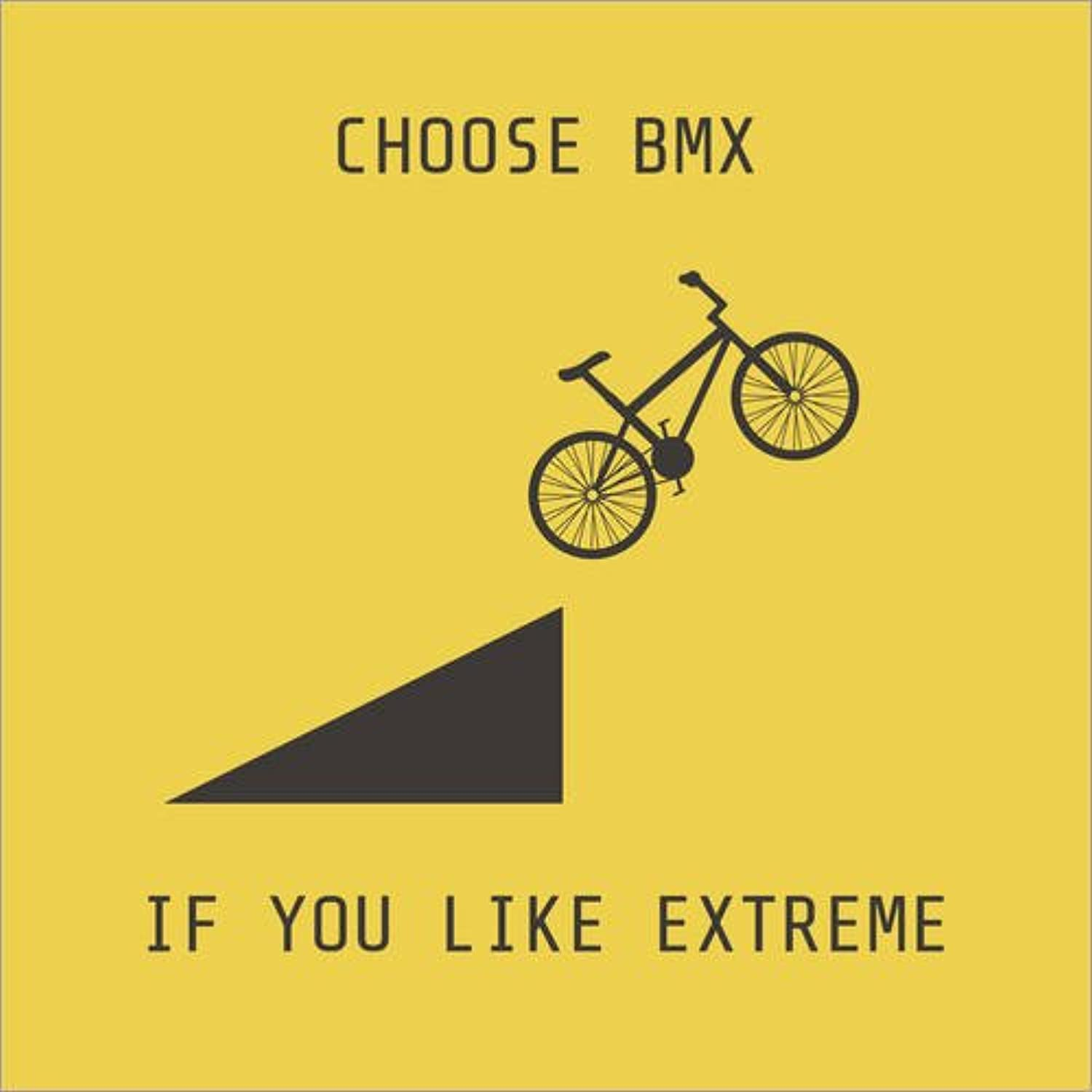 Posterlounge Cuadro de Madera 60 x 60 cm  BMX for Extreme Athletes de Kidz Collection Editors Choice