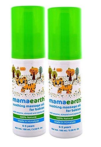Mamaearth Soothing 100% Natural Massage Oil For Babies and Kids100ml (Combo Pack of 2Pcs)