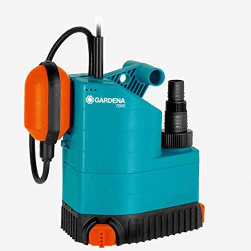 GARDENA 01780-61 Klarwasser-Tauchpumpe 7000, 250 W, türkis, schwarz, Orange