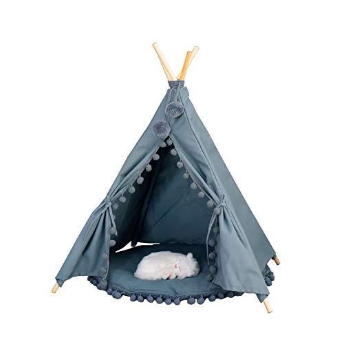 kleine duif hond tipi tent thuis en tent met tip voor hond of huisdier, afneembaar en wasbaar met mat(S)
