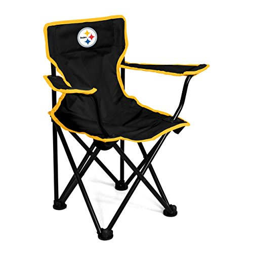 Logo Brands Officially Licensed NFL Pittsburgh Steelers Unisex Toddler Folding Chair, One Size, Team Color