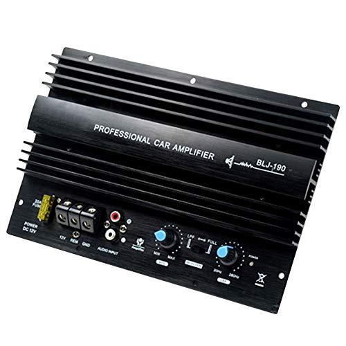 Nrpfell 12V 1000W Subwoofer de Bajo Potente 105Dba Mono Amplificador de Alta Potencia de Audio para Automóvil Amp Tablero Térmica Sobrecarga Proteger Bajo Potente
