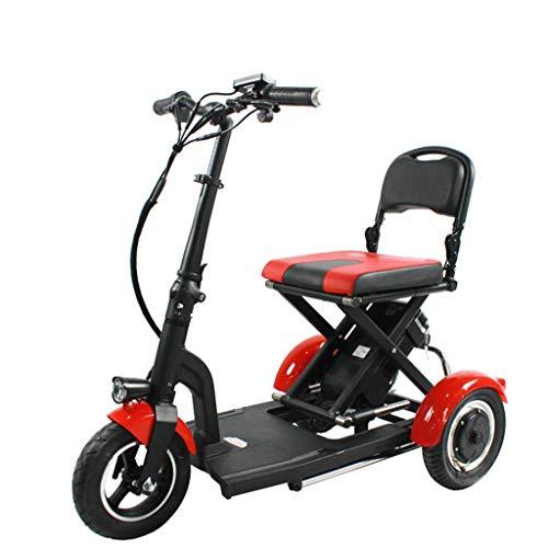 3 Runden Faltbares Mini-Dreirad Elektroroller Lieferroller Für Ältere Personen/Behinderte Outdoor-Reise-Freizeit-Mobilroller Balance Car Three-Wheeled Scooter Lithium Battery Bicycle