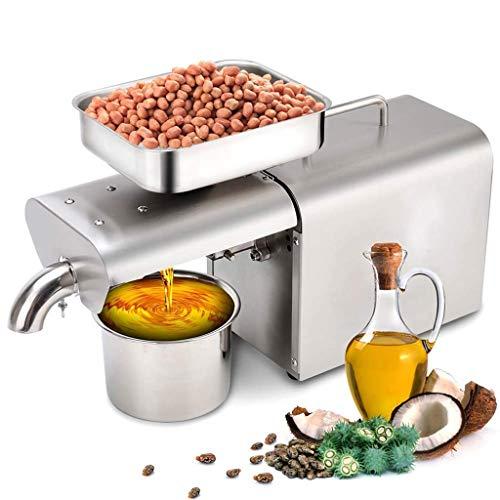 Dciszl Öl-Presse-Maschine, vollautomatische Cold/Hot-Nussöl Extractor, Home/Gewerbe Öl Expeller Edelstahl Seed Oil Presse for Coconut Castor Olive (Size : 220V)