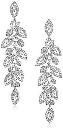 SWEETV Wedding Bridal Chandelier Earrings Crystal Rhinestone Drop Dangle Earrings for Women product image